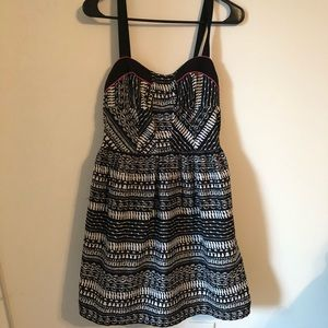 Band of Gypsies Tribal Print Fit and Flare Dress